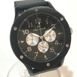 Folli Follie フォリフォリ   WT6Y001SE メンズ腕時計 クロノグラフ 腕時計 SS/ラバーベルト ブラック メンズ