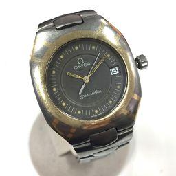 OMEGA オメガ   ポラリス デイト 120m シーマスター 腕時計//YG×チタン シルバー メンズ