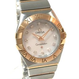 OMEGA オメガ   123.20.24.60.57.003 レディース腕時計 コンステレーション 12Pダイヤ 腕時計 K18PG/SS ピンクゴールド レディース