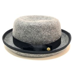 MONCLER モンクレール   ハット帽 タグ有 メンズ レディース リボンモチーフ 帽子 フェルト グレー系 ユニセックス
