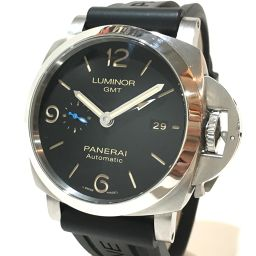 PANERAI パネライ   PAM00320 メンズ腕時計 ルミノール 1950 GMT 3デイズ 腕時計 SS/ラバーベルト ブラックベルト メンズ