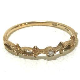 agete アガット   指輪 1Pダイヤ リング リング・指輪 K10イエローゴールド ダイヤ 4号 イエローゴールド