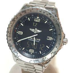 BREITLING ブライトリング   A56012.1 メンズ腕時計 クロノスペース 腕時計 SS シルバー メンズ