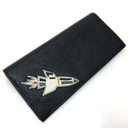 PRADA プラダ   2MV836 2つ折り長財布 メンズ レディース ロケット サフィアーノ 長財布(小銭入れあり) レザー ブラック レディース