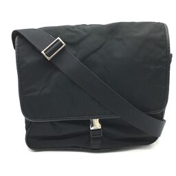 PRADA Prada Business Nylon Bag Messenger Bag Shoulder Bag Nylon Unisex Black Black