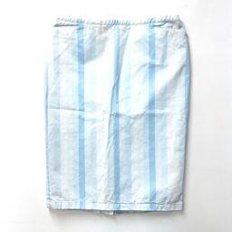 PRADA プラダ   アパレル ストライプ 膝丈 スカート ホワイト×ライトブルー レディース