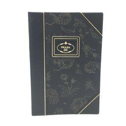 PRADA Prada 2AR696 Animal Pattern Notebook Stationery Other Saffiano Leather Ladies Black
