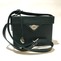 renoma box type shoulder bag with leather straps leather green women's