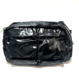 porter ポーター   ボディバッグ メンズバッグ ボディバッグ PVC ダークグレー×ブラック メンズ