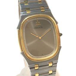 SEIKO セイコー   9570-5170 メンズ腕時計 ボーイズ クレドール オニキスリューズ 腕時計 SS×K18KT/ シルバー メンズ