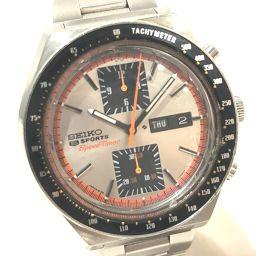 SEIKO セイコー   6138-0030 メンズ腕時計 5スポーツ デイデイト スピードタイマー 腕時計 SS シルバー メンズ