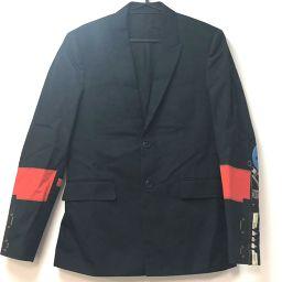 GIVENCHY ジバンシィ   上着 メンズ アウター アパレル テーラードジャケット コットン/ ブラック メンズ