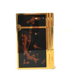 Dupont デュポン   メンズ レディース ギャッツビー ガスライター ライター 真鍮 ブラック×ゴールド ユニセックス