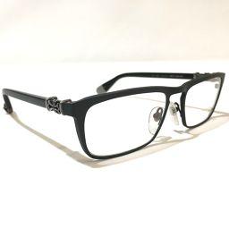 CHROME HEARTS クロムハーツ   メンズ レディース MEAT WALLET 伊達メガネ 眼鏡 プラスチック/SV925 ブラック ユニセックス