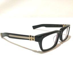 CHROME HEARTS クロムハーツ   55-18-135 メンズ レディース  伊達メガネ アイウェア クリア メガネ 眼鏡 プラスチック ブラック ユニセックス
