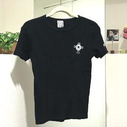 CHROME HEARTS クロムハーツ   半袖シャツ ロゴデザイン タグ有 ブラック レディース