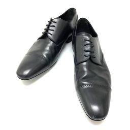LOUIS VUITTON ルイ・ヴィトン   ビジネスシューズ 革靴 レザーシューズ レザー ブラック メンズ