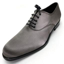 Salvatore Ferragamo サルヴァトーレフェラガモ   シューズ 靴 ローファー ビジネスシューズ ドレスシューズ サテン/ グレー メンズ
