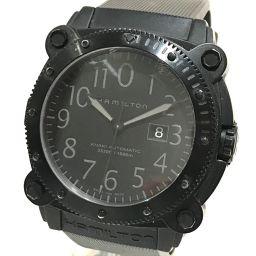 HAMILTON ハミルトン   H785850 メンズ腕時計 カーキ ビロウゼロ デイト 腕時計 SS/ラバーベルト ブラック メンズ