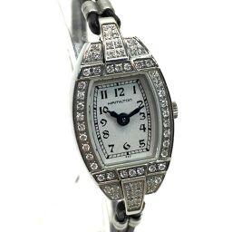 HAMILTON ハミルトン  K311510 レディース腕時計 クオーツ 革紐ベルト ダイヤベゼル 腕時計 SS/レザー ブラック レディース【中古】