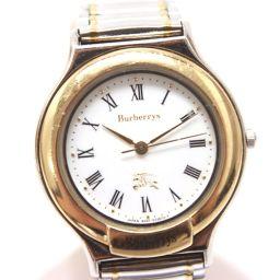BURBERRY バーバリー  クオーツ 腕時計 SS×GP シルバー レディース【中古】