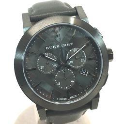 BURBERRY バーバリー   BU9364 メンズ腕時計 シティ クロノグラフ 腕時計 SS/革ベルト ブラックコーティング メンズ