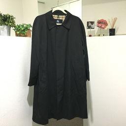 BURBERRY バーバリー   アパレル ロンドン 裏地チェック柄 ロングコート ブラック メンズ