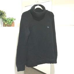 BURBERRY バーバリー   ブラックレーベル ハイネック セーター トップス セーター ブラック メンズ