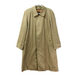 BURBERRY Burberry Jacket Outerwear Plaid Trench Coat Cotton / Polyester Beige Men