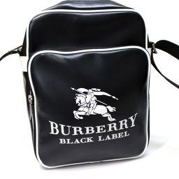 BURBERRY BLACK LABEL バーバリーブラックレーベル  メンズ レディース ポシェット ショルダーバッグ PVC ブラック メンズ【中古】