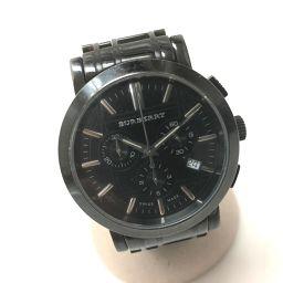 BURBERRY バーバリー   BU1373 ヘリテージ クロノグラフ  腕時計 SS/ ブラック メンズ