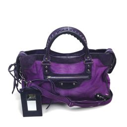 Balenciaga Balenciaga 115748 2way handbag city shoulder bag harako x leather purple ladies