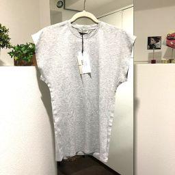 BALENCIAGA バレンシアガ   メンズ レディース カットソー ノースリーブ 半袖Tシャツ グレー ユニセックス