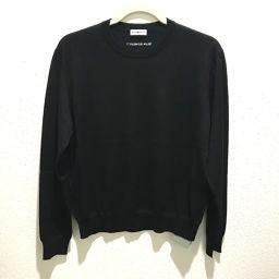 BALENCIAGA バレンシアガ   565750 長袖 トップス ニット ロゴ タグ有 セーター ウール ブラック ブラック メンズ