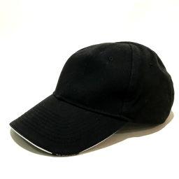 BALENCIAGA バレンシアガ   ベースボール キャップ帽 europa ヨーロッパ ロゴ刺繍 タグ有 帽子 コットン ブラック×レッド メンズ