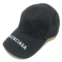 BALENCIAGA バレンシアガ   ベースボール キャップ タグ有り ロゴ 帽子 コットン ブラック ユニセックス
