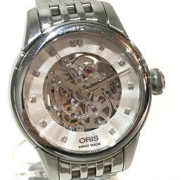 ORIS オリス   560 7687 4019M レディース腕時計 アートリエ 12Pダイヤ スケルトン 腕時計 SS シルバー レディース