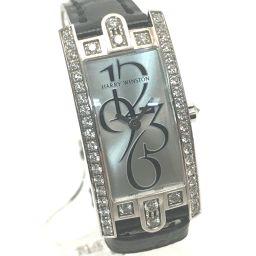 HARRY WINSTON ハリーウィンストン   AVCQHM15 レディース腕時計 アヴェニュー Cミニ ダイヤ入りケース(純正) 腕時計 K18WG/クロコ革ベルト/ダイヤモンド ホワイトゴールド レディース
