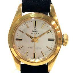 TUDOR チュードル   7805 オイスター SHOCK RESISTING レディース腕時計 腕時計 GP/革ベルト ゴールド×ブラック レディース