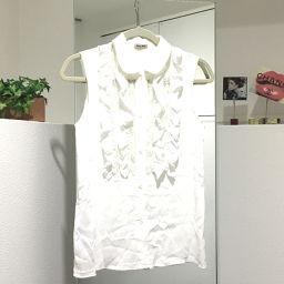 MIUMIU ミュウミュウ   シャツ フリル タグ有 ホワイト レディース