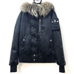 mastermind JAPAN マスターマインドジャパン   中綿入りフード付きジャケット PORTERコラボ アウター アパレル ナイロン/羊革/ラクーン ブラック メンズ
