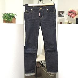 DSQUARED2 Dsquared Roll-up Jeans Bottoms Denim pants Indigo Blue Ladies [pre-owned]