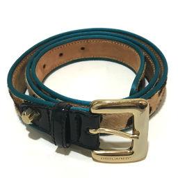 DSQUARED2 Dsquared Ladies's Accessories Leopard Belt Harako Beige × Blue Ladies