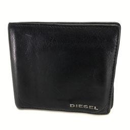 DIESEL ディーゼル   バイカラー 二つ折り財布(小銭入れあり) レザー/ ブラック メンズ