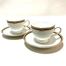 WEDGWOOD Wedgewood Men's Women's Plates & Teacups All 4-Piece Set Pair Gift Ceramic White Unisex