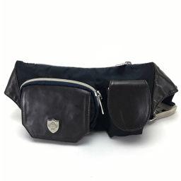 Orobianco Orobianco Waist Bag Hip Bag Waist Pouch Belt Bag Body Bag Nylon x Leather / Navy Men's
