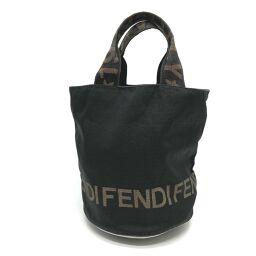 FENDI FENDI logo bucket type 1925 handle handbag nylon ladies black