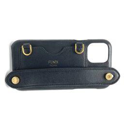 FENDI FENDI 7AR885A5DYF0KUR with strap iphone 11 pro case smartphone case iPhone case leather unisex black