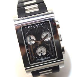 BVLGARI ブルガリ  RTC49S レッタンゴロ レッタンゴロ 腕時計 SS/ラバーベルト ブラック レディース【中古】