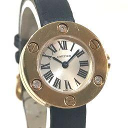 CARTIER カルティエ   レディース腕時計 ラブウォッチ 3Pダイヤ 腕時計 K18PG/サテン ピンクゴールド レディース